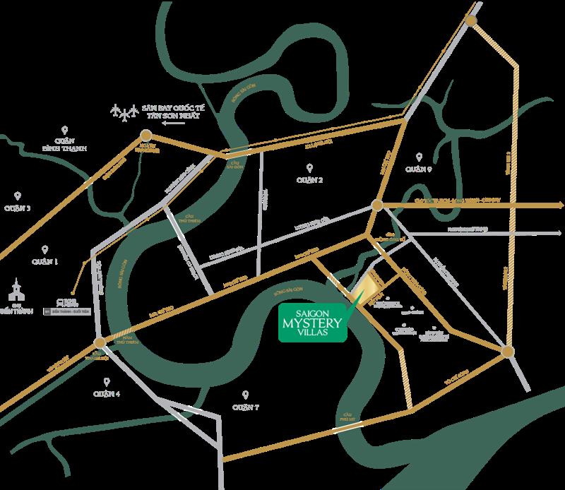 Saigon Mystery Villa quận 2 - Vị trí đắt giá