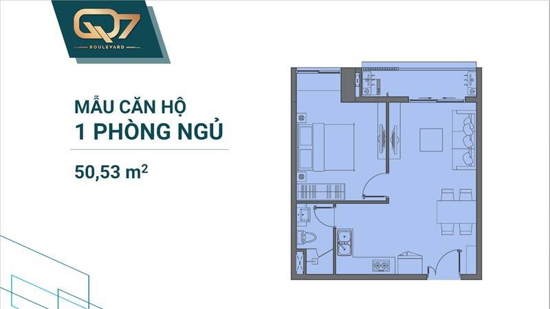 Thiết kế căn 1 phòng ngủ Q7 Boulevard