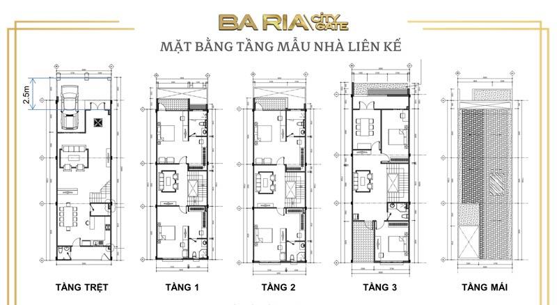đất nền Bà Rịa City Gate mẫu thiết kế nhà