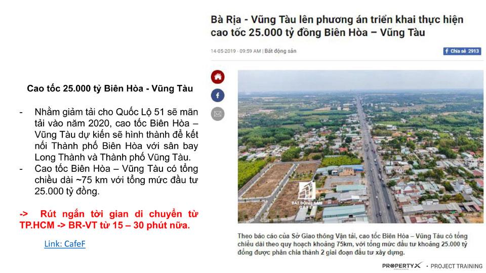 Cao Tốc Biên Hòa - Vũng Tàu đang được gấp rút triển khai