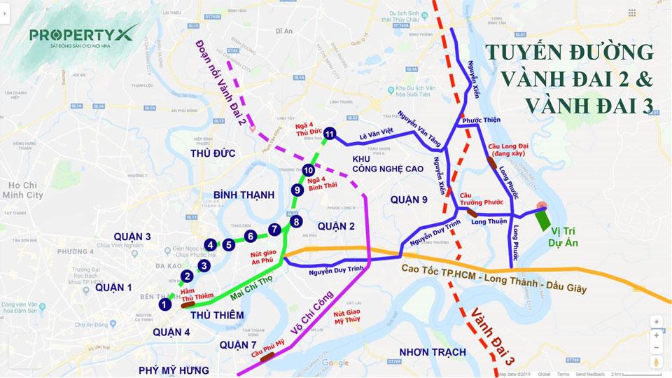 vị trí kết nối dự án Saigon garden riverside quận 9