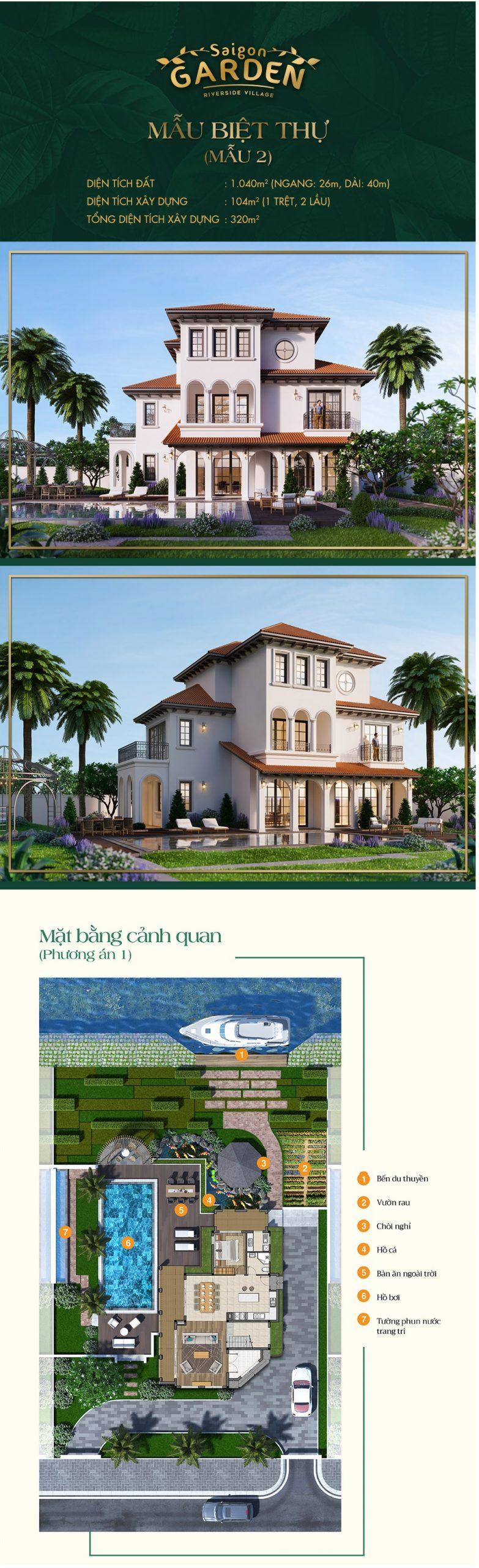 Mẫu thiết kế dự án Saigon garden riverside
