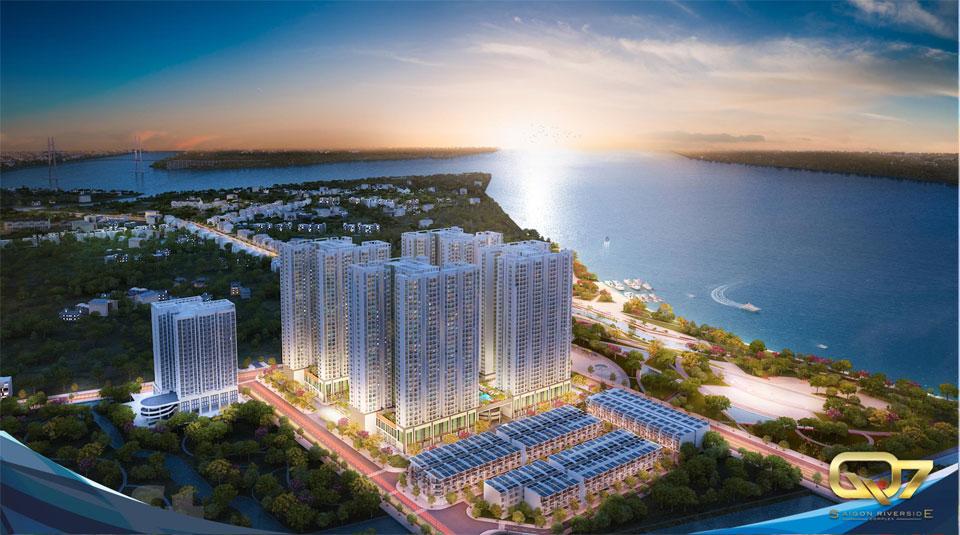 Tổng thể dự án căn hộ q7 saigon Đào Trí