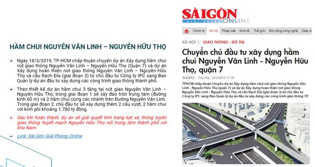 quy hoạch hạ tầng Khu Nam Saigon q7 saigon riverside