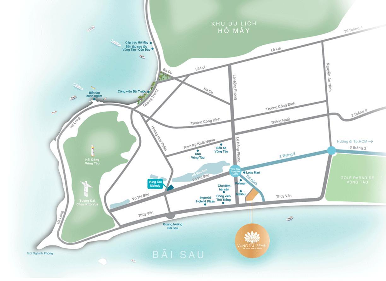 vị trí căn hộ vũng tàu pearl