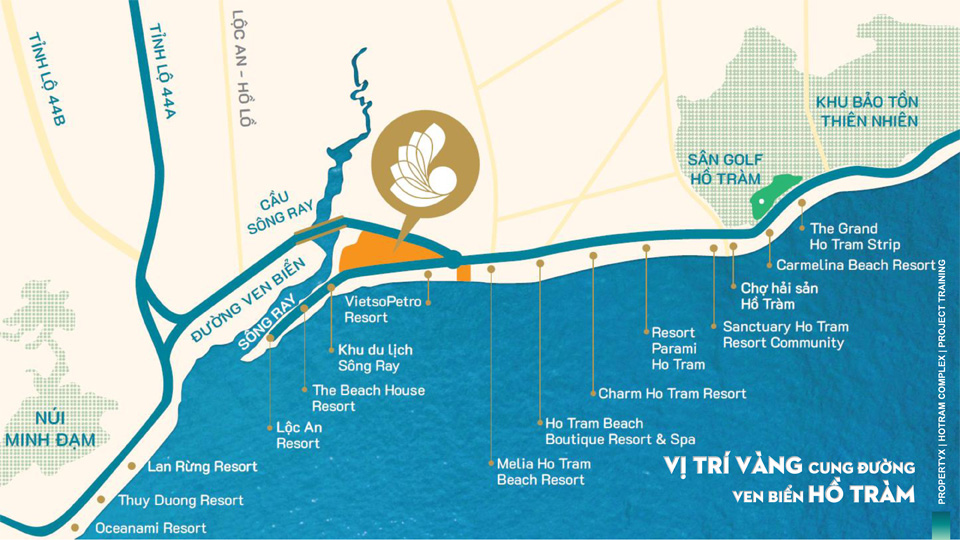 vị trí dự án căn hộ hồ tràm complex