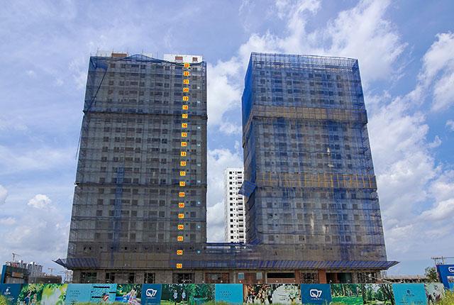 tiến độ thi công q7 boulevard phần thân