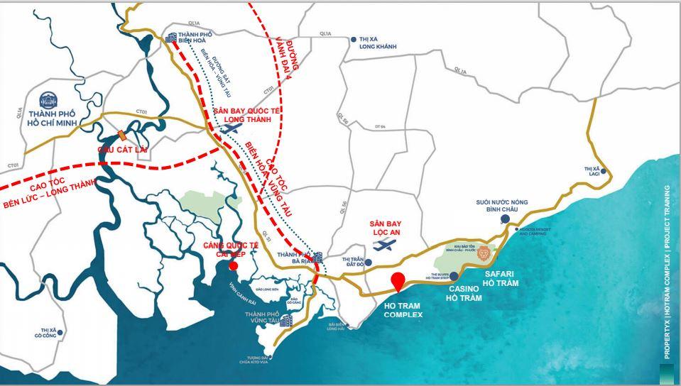 dự án hồ tràm complex kết nối giao thông