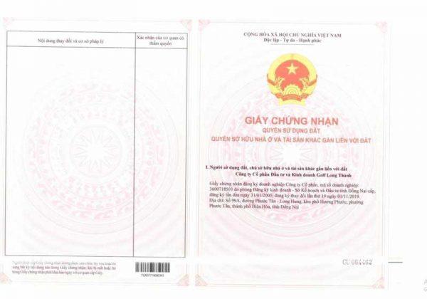Thủ Tục Chuyển Nhượng Đất Nền Biên Hoà New City 2020