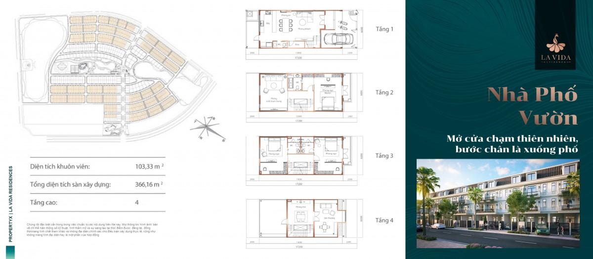 Chi tiết Thiết kế nhà vườn La vida residences vũng tàu
