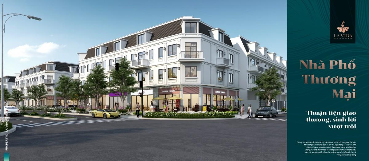 Thiết kế nhà phố thương mại La vida residences