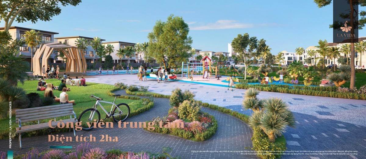 Công viên tại Lavida residences Vũng Tàu