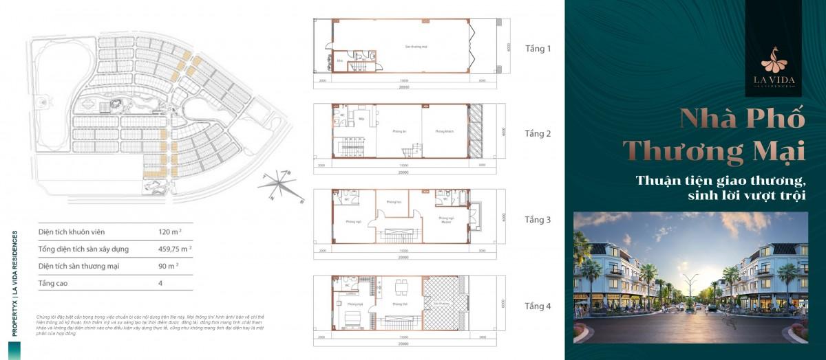Chi tiết Thiết kế nhà phố thương mại La vida residences