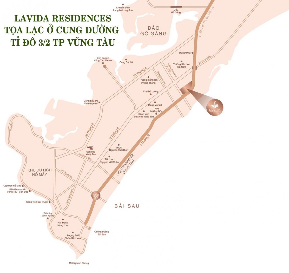 Vị trí dự án La vida residences vũng tàu
