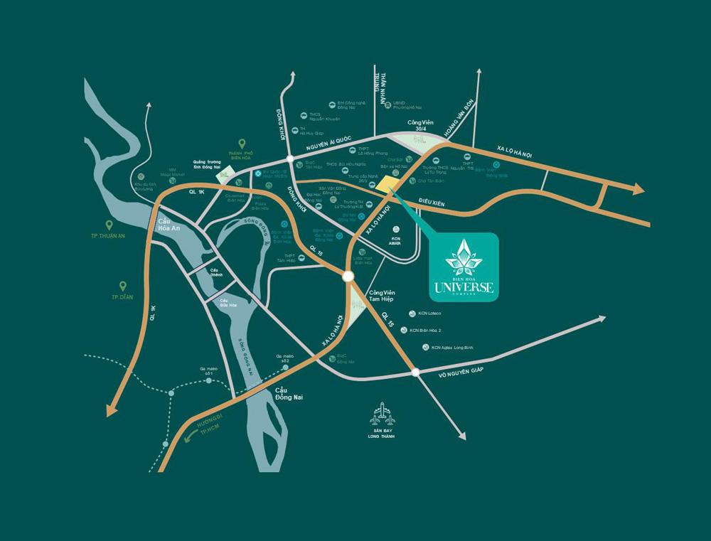 Vị trí Căn hộ Biên Hòa Universe Complex