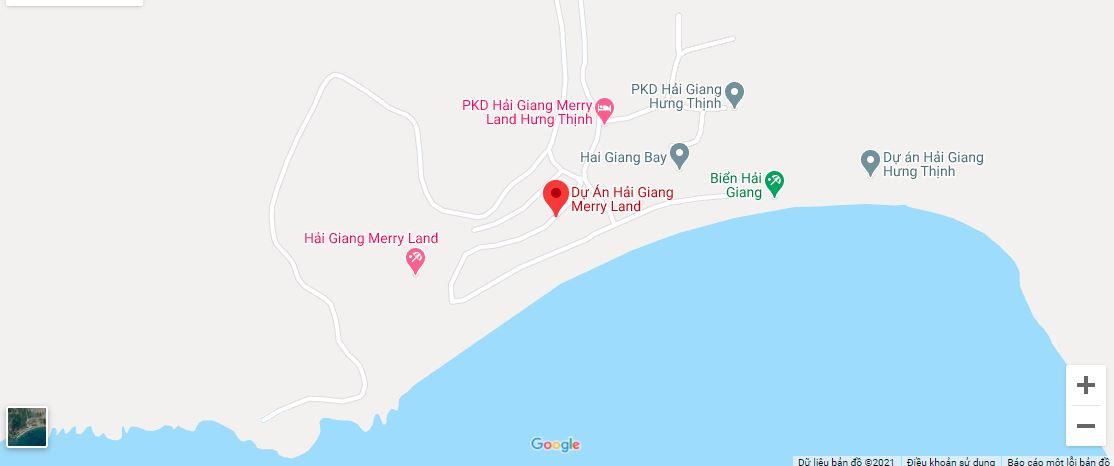 Vị trí dự án Hải Giang Mystery