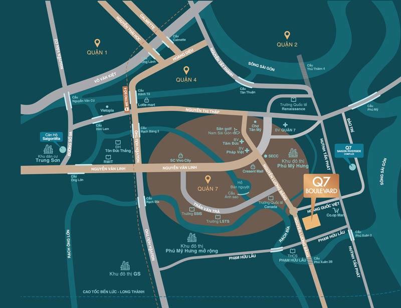 vị trí chuyển nhượng căn hộ q7 boulevard