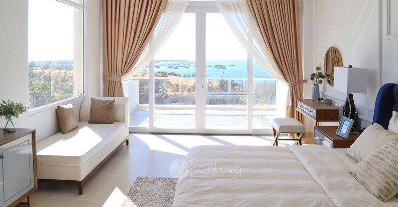 Phòng ngủ đất nền sentosa villa mũi né phòng ăn