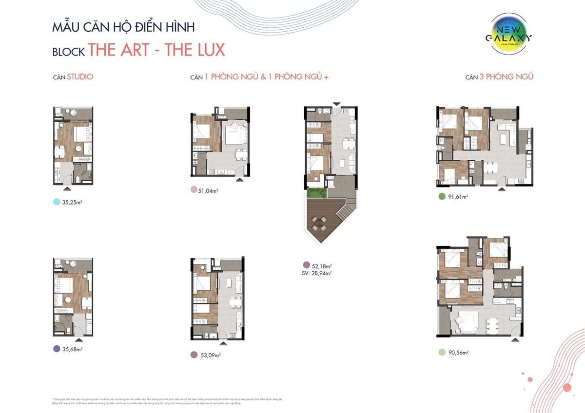 thiết kế chi tiết loại căn hộ new galaxy nha trang